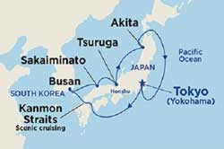 Cruise Japan and meet Geisha via Tokyo